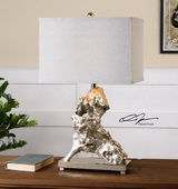 Rilletta Metallic Silver Table Lamp - LUT2503