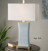 Cantarana Blue Gray Table Lamp - LUT2517