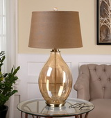 Bartolomeo Amber Glass Table Lamp - LUT2525