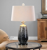 Vergato Charcoal Glass Table Lamp - LUT2527