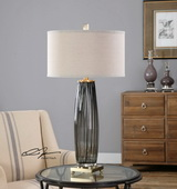 Vilminore Gray Glass Table Lamp - LUT2529