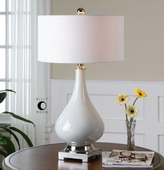 Helton White Table Lamp  - LUT6985