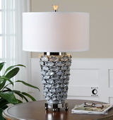 Petalo Pearl Gray Table Lamp  - LUT6986