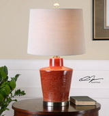 Cornell Brick Red Table Lamp - LUT2535
