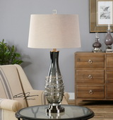 Durazzano Gray Glass Table Lamp - LUT2537