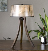 Maloy Wood Legs Table Lamp - LUT2551