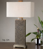 Canfield Coffee Bronze Table Lamp - LUT2557