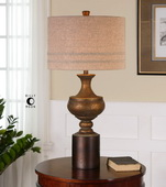 Giuliano Antiqued Gold Table Lamp - LUT2559