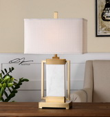 Marnett White Marble Table Lamp - LUT2561