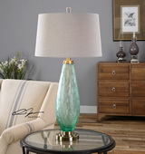 Lenado Sea Green Glass Table Lamp - LUT2575