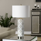 Anzano Gray Glass Lamp - LUT2597