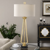 Torano Antiqued Gold Lamp - LUT2603