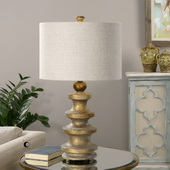Guadalete Antiqued Gold Lamp - LUT2621