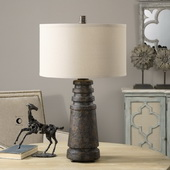 Topeka Distressed Rust Lamp - LUT2623
