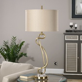Shalin Brushed Brass Lamp - LUT2633