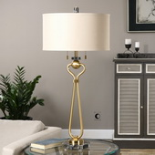 Arcella Brushed Brass Lamp - LUT2639