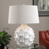 Guerina Scalloped White Lamp - LUT2651