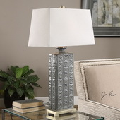 Casale Aged Gray Lamp - LUT2653