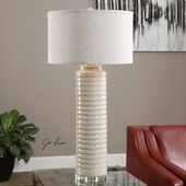 Yana Ribbed Cylinder Lamp - LUT2655