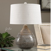 Batova Smoke Gray Lamp - LUT2661