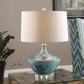 Chasida Blue Ceramic Lamp - LUT2663