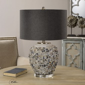 Carrabelle Layered Stones Lamp - LUT2685