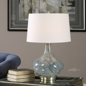 Celinda Blue Gray Glass Lamp - LUT2693