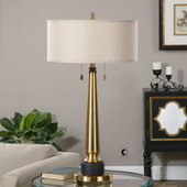 Monroe Brushed Brass Lamp - LUT2695