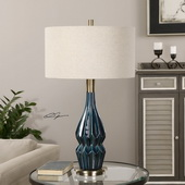 Prussian Blue Ceramic Lamp - LUT2703
