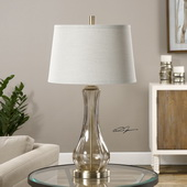 Cynthiana Smoke Gray Glass Lamp - LUT2709