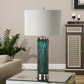 Almanzora Blue Glass Lamp - LUT2713