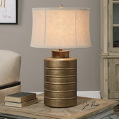 Antiqued Gold Bamiro Lamp