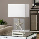 Silver Starfish Table Lamp - LUT2731