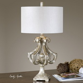 Vinadio Distressed Silver Table Lamp - LUT2735