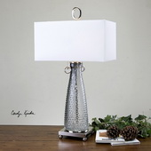 Ostola Smokey Glass Lamp