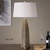 Kolva Antiqued Silver Table Lamp