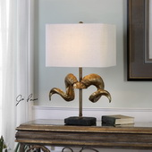 Golden Horns Table Lamp