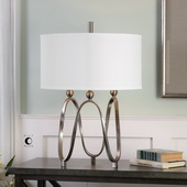 Akiro Brushed Nickel Table Lamp