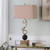 Attila Coffee Bronze Table Lamp