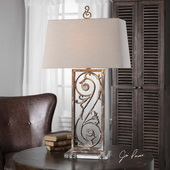 Catania Aged White Table Lamp