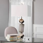 Balancing Act Brushed Nickel Lamp