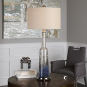 Trikala Clear Blue Glass Lamp