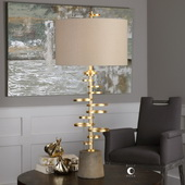 Lostine Antiqued Gold Lamp
