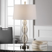 Galatsi Ribbed Mercury Glass Lamp
