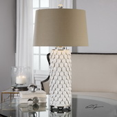 Calla Lillies Gloss White Lamp
