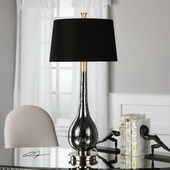 Komotini Black Mercury Glass Lamp