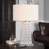 Dania White Table Lamp - LUT6055