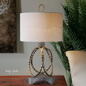 Pylaia Bronze Steel Rings Lamp