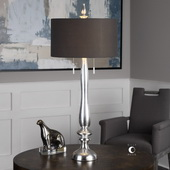 Belmont Metallic Silver Leaf Lamp