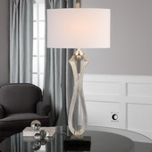 Gerakas Ribbed Silver Lamp